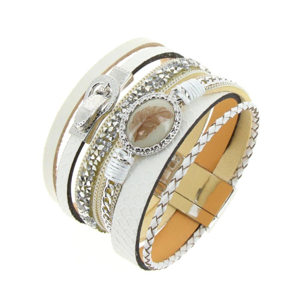 Bracelet manchette Justus Blanc - 10529-39896