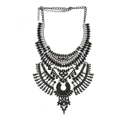 Collier plastron KRISTINA Noir - 10567-40232
