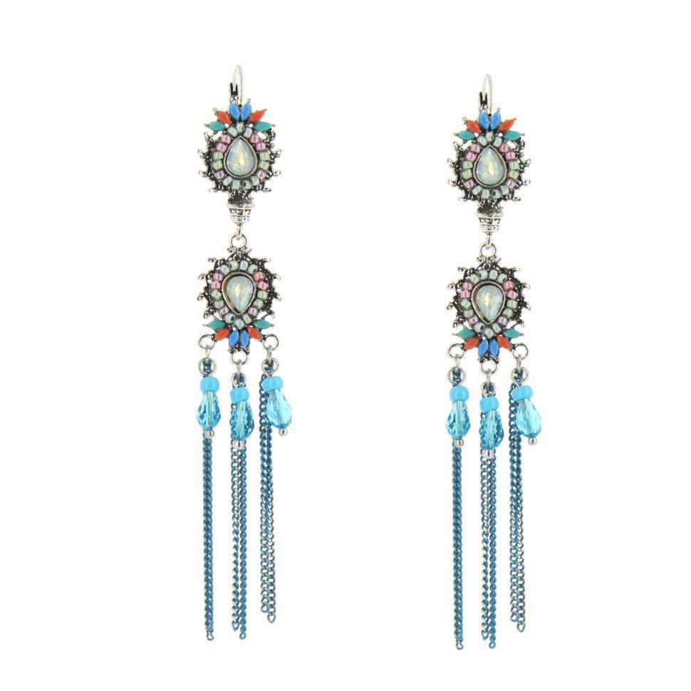 Boucles d'oreilles Erna Bleu - 10630-40634