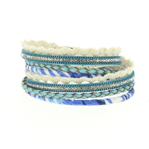 Bracelet à enrouler Jannike Bleu - 10667-40786