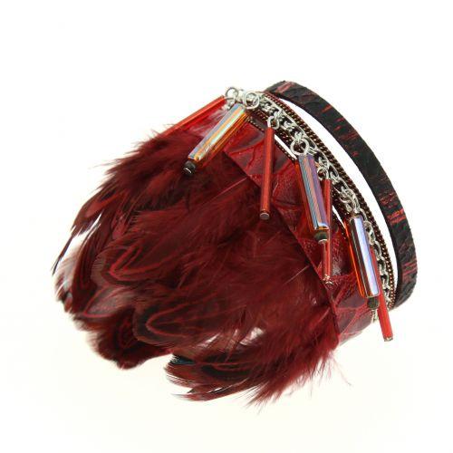MILANA feathers Cuff bracelet
