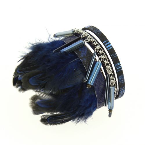 Bracelet cuff feather MILANA
