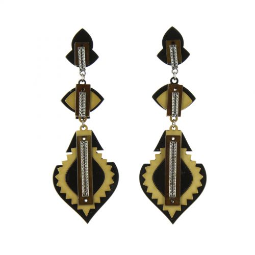 Tirasia acrylic earrings