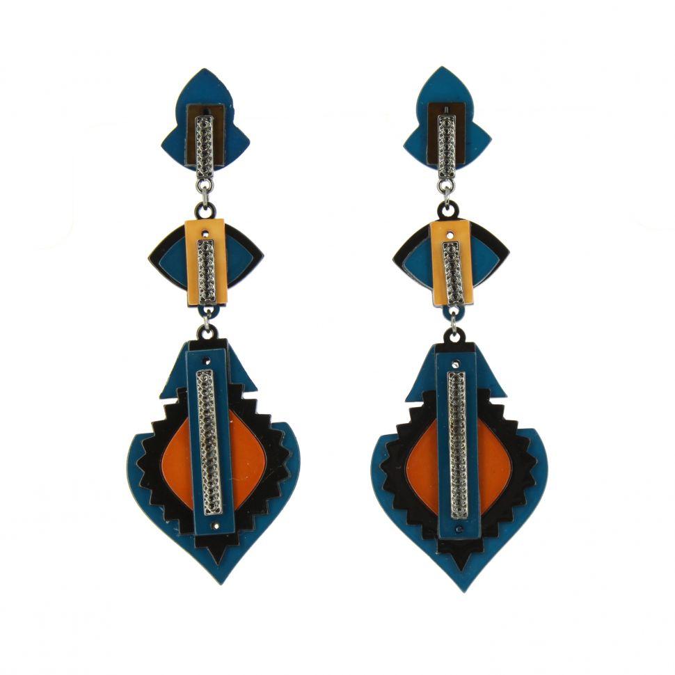 Boucles d'oreilles acrylique