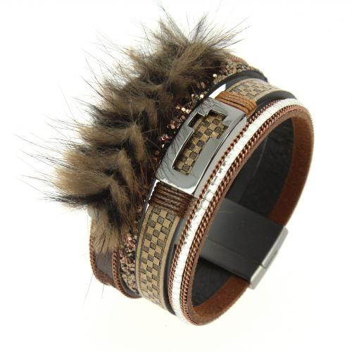 Octavienne fur bracelet