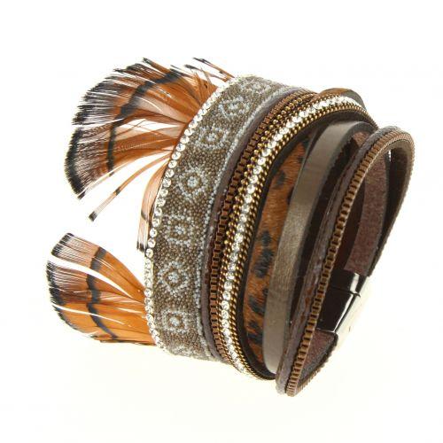 Chimra feathers bracelet