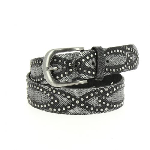 CAPUCINE studded leather belt