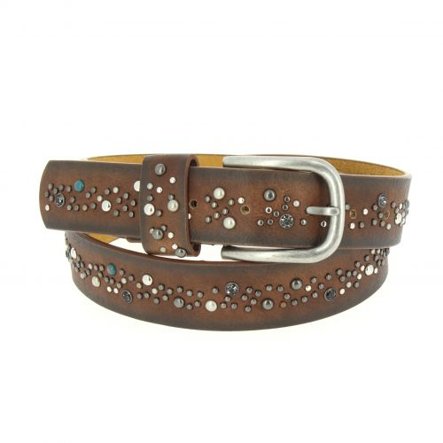 Rivets leather belt Morane