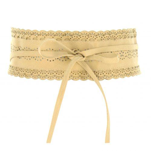 Woman waisband Glitter Obi Belt, Paillette FELIPA