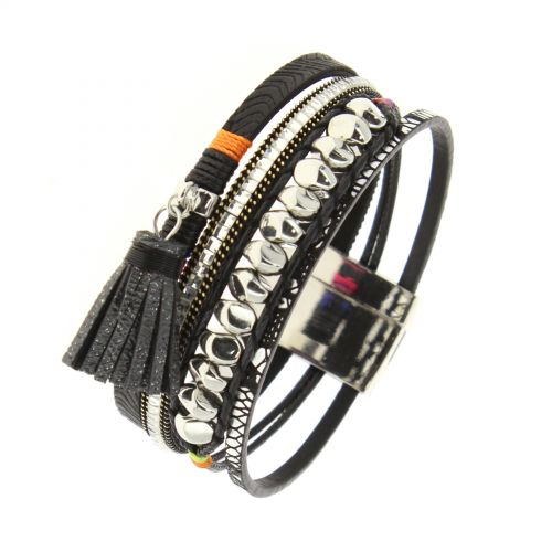 Thela pompon cuff bracelet