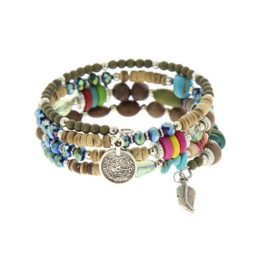Bracelet ehtnique à enrouler perles KETURA