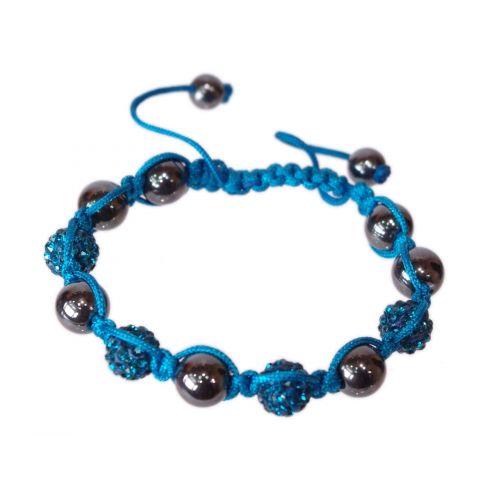 Bracelet Shamballa 4 pelres, SIENNA