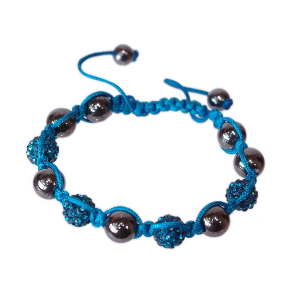 Shamballa Bracelet 4 beads, SIENNA