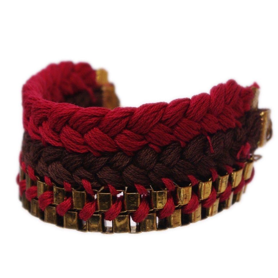 bracelet tressés en coton BT-022 Rouge - 1804-4471