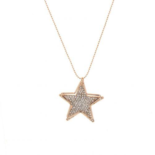 Collier, sautoir étoile à strass Ariane