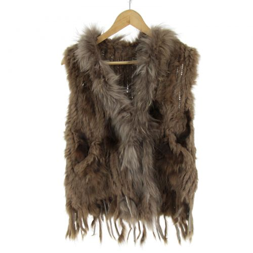 IOLENTE fur cardigan