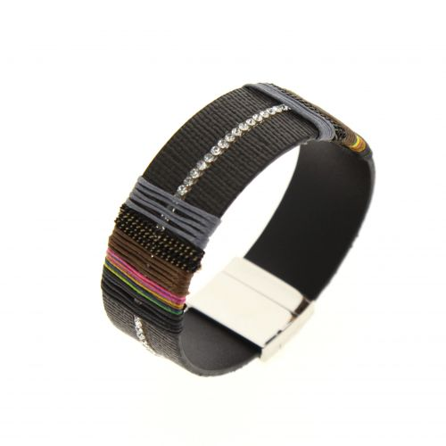 Bracelet cuff ethnic rhinestone LOELIA