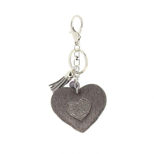 Porte-clefs, bijou de sac coeur Elaïs