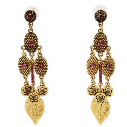 Vintage Beaded Dangle Drop earrings for woman, MILFORDIA