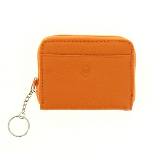 Leather Mini Wallet Holder Zip Coin Purse and card holder, MADDIE