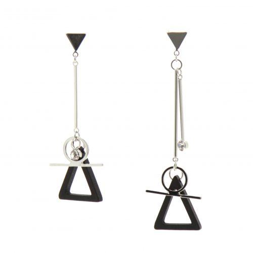 Boucles d'oreilles métal pendantes Cilia