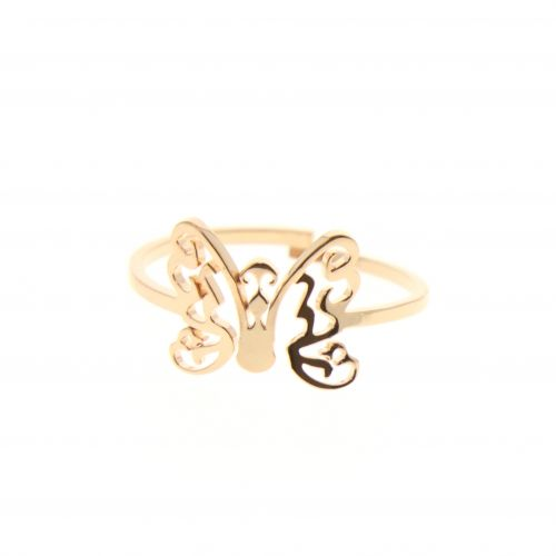 Ring stainless stee Butterfly ROSY