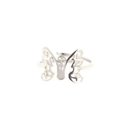 anello farfalla, acciaio inox ROSY