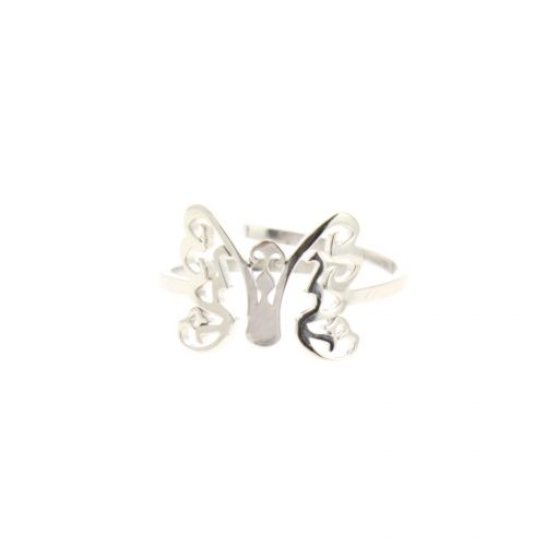 ROSY butterfly stainless steel ring