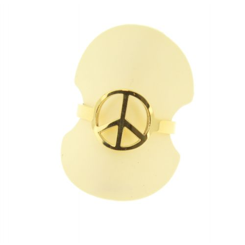 "YNESS ""peace and love"" stainless steel ring"