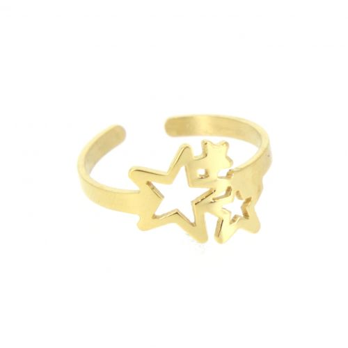 CAYSSIE star stainless steel ring