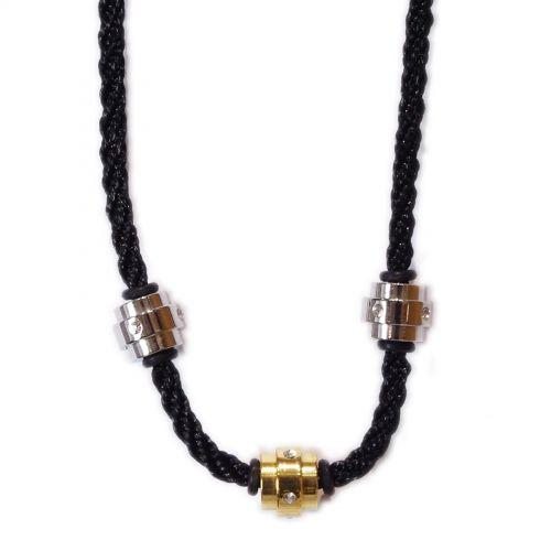 collana di corda, acciaio inossidabile 4412-3 O