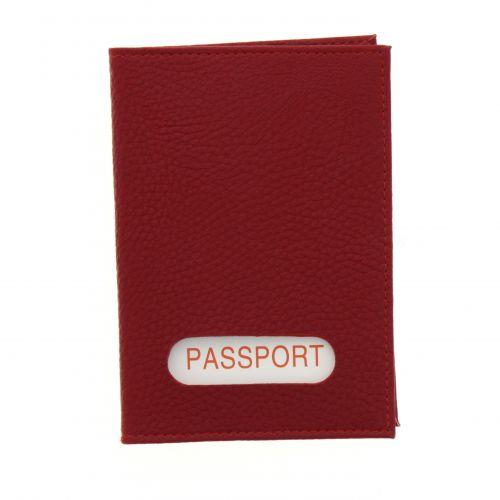 Portefeuille passeport en cuir EVAN