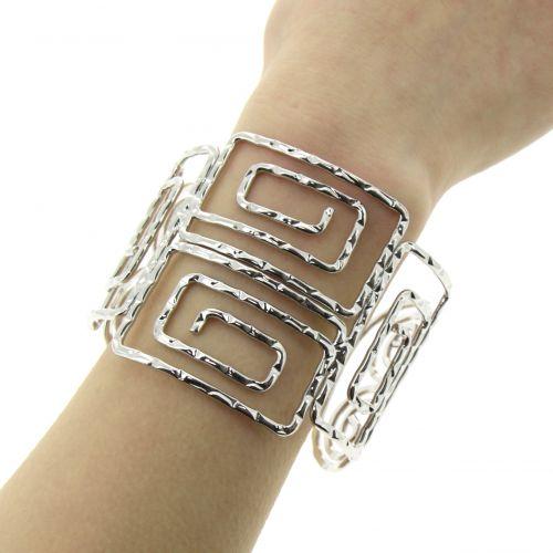 Bracelet manchette strass LINE