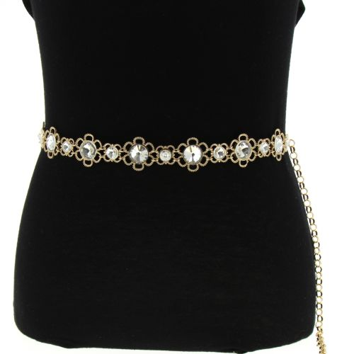 Woman's Lady Fashion Metal Chain Style Belt, ILIA