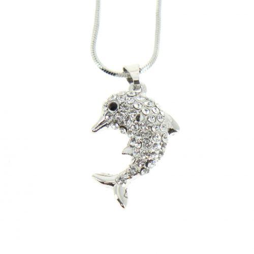 Collier à pendentif dauphin JUNO
