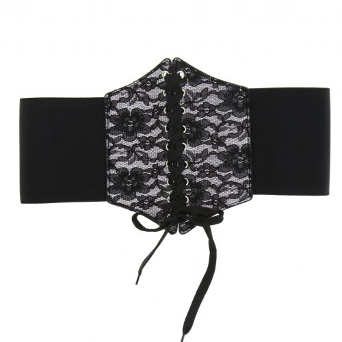 Leatherette corset belt CYRIANE