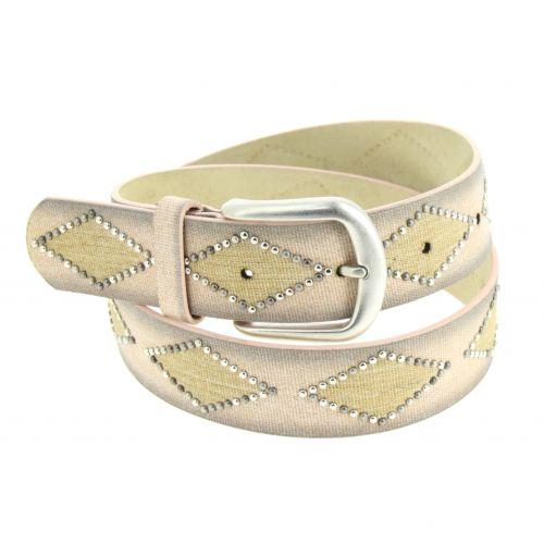 Denim Studded leather belt, KELLYA
