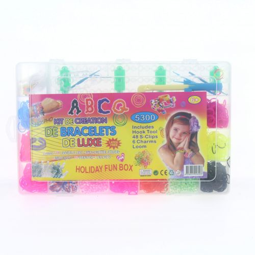 Pack DIY 5300 compatible rainbow loom, colorful loom band and other