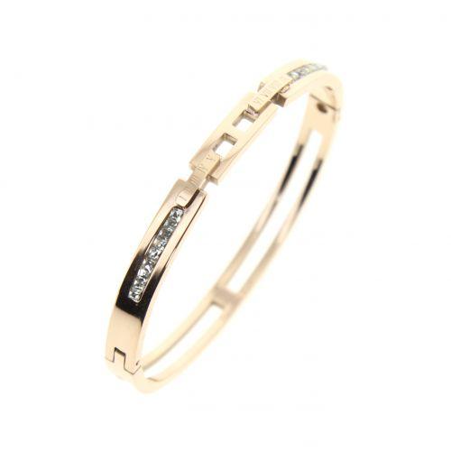 Bracelet en acier inoxydable à strass GARANCE