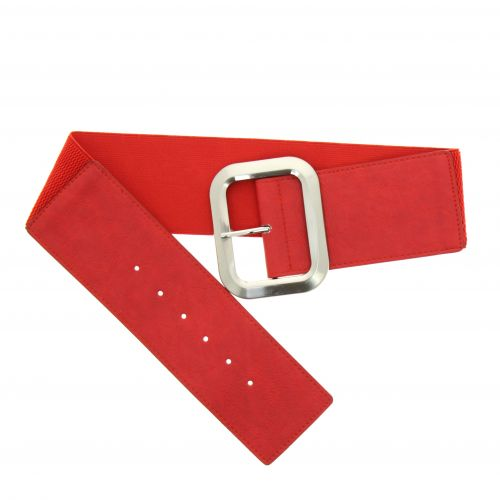 Wide, elastic and leatherette women's belt, VALERE