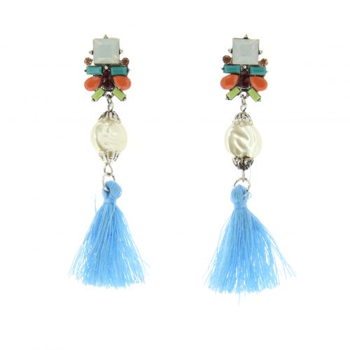 Tassel, drop, dangling woman Earring JUNA