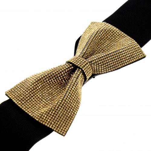 cinturon mujer elastico nudo mariposa brillantes HAWA