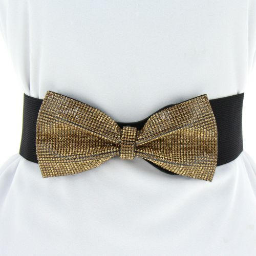 Crystal Rhinestone Bowtie Elasticated woman Belt, HAWA