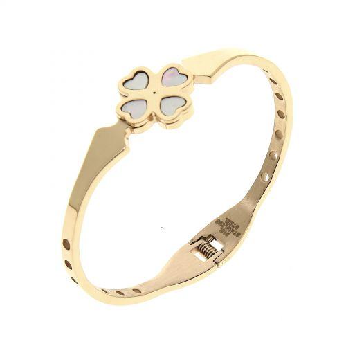Clover Stainless steel bracelet, MILINE