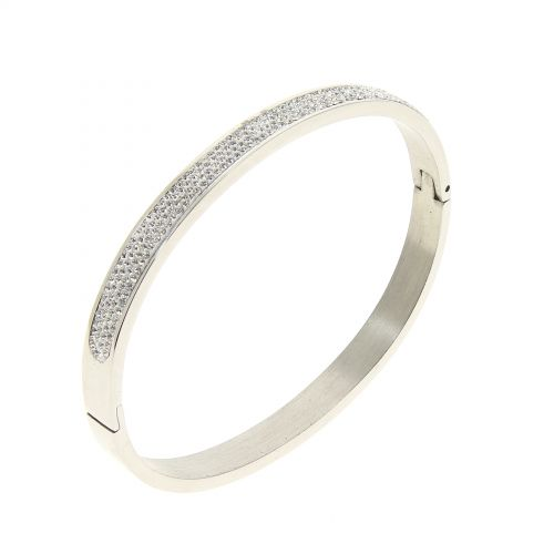 Zirconium crystal Stainless steel bracelet, LINSEY