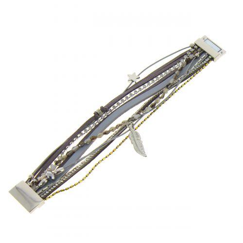 Bracelet cuff multi row GALEANE