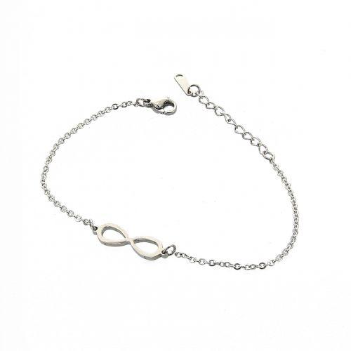 Infinite stainless steel bracelet, NOELIE