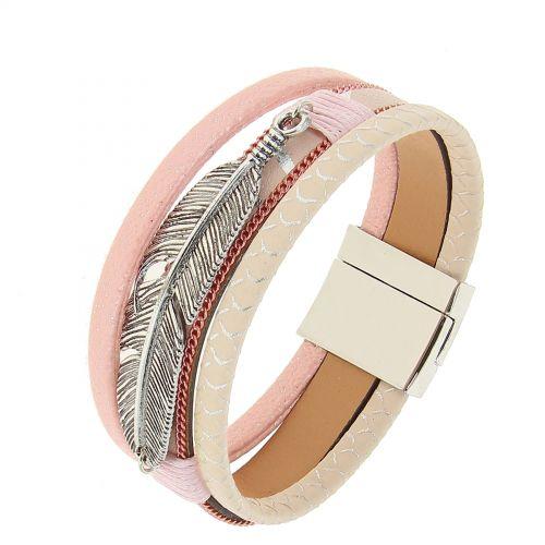 Leatherette cuff bracelet Jone 9695