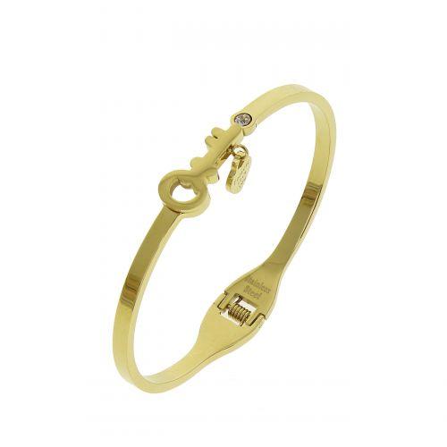 Bracelet acier clé et amour, KINALY