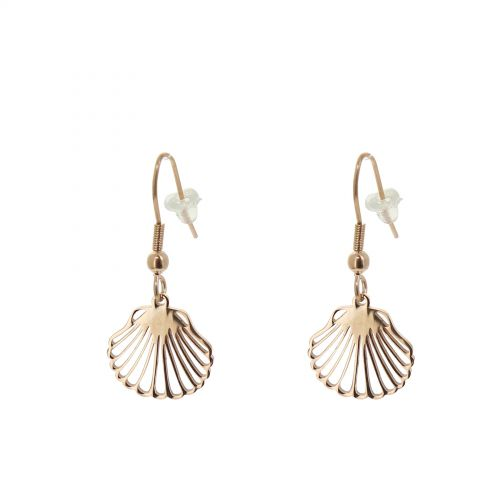 Earrings stainless steel shell earrings ILINE